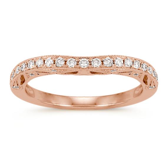 Contour Diamond Wedding Band in 14k Rose Gold