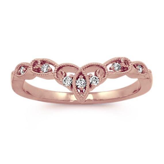 Contour Vintage Diamond Ring in 14k Rose Gold