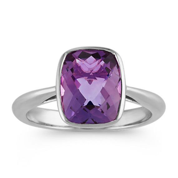 Natural Amethyst Rough Cocktail Gemstone Stackable Engagement Fashionable Ring