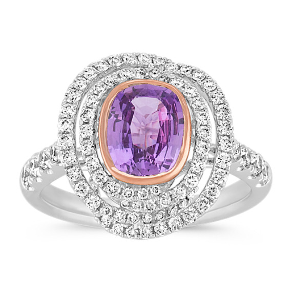 custom oval halo jewelry engagement ring christopher by aided and portfolio lavender view sapphire design rings computer diamond duquet made
