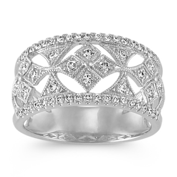 Cutout Diamond Ring in 14k White Gold