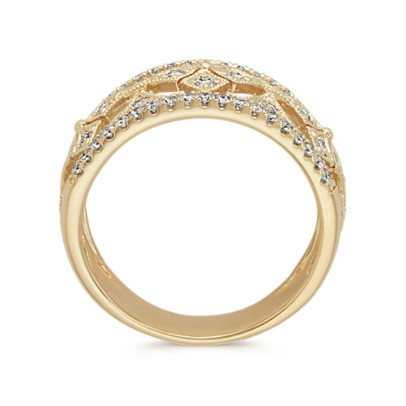 Cutout Diamond Ring in 14k Yellow Gold image