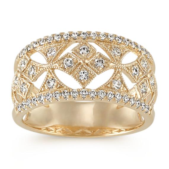 Cutout Diamond Ring in 14k Yellow Gold