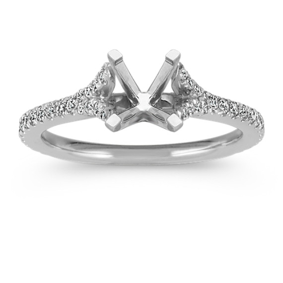 Diamond Cathedral Engagement Ring in Platinum