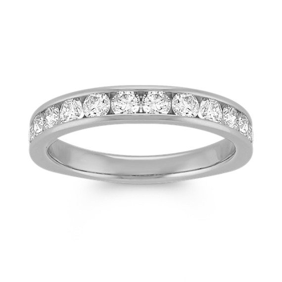 Diamond Channel-Set Wedding Band