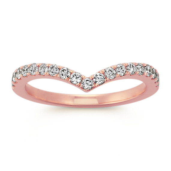 Diamond Contour Wedding Band in 14k Rose Gold