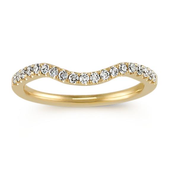 Diamond Contour Wedding Band in 14k yellow gold