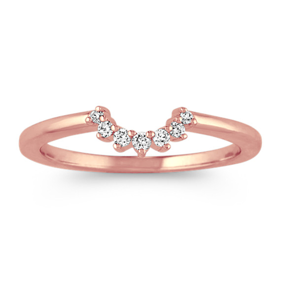 Diamond Contour Wedding Band in Rose Gold