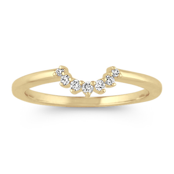 Diamond Contour Wedding Band in Yellow Gold