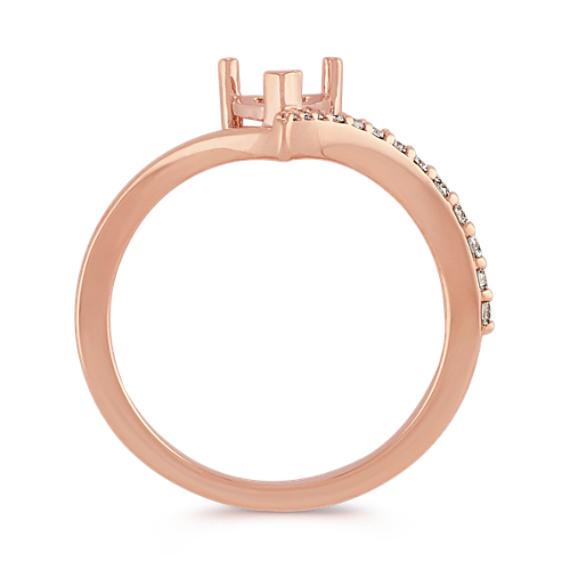 Diamond Ring for Heart-Shaped Gemstone in 14k Rose Gold image