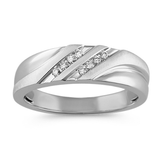 Diamond Ring with Channel Setting and Satin Finish (6.5mm)