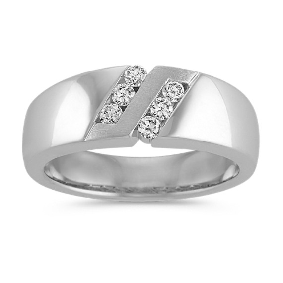 Diamond Ring with Channel-Setting and Satin Finish (8mm)