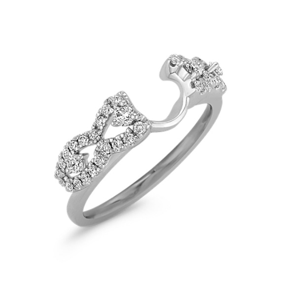 Diamond Solitaire Engagement Ring Wrap With Pave Setting Shane Co