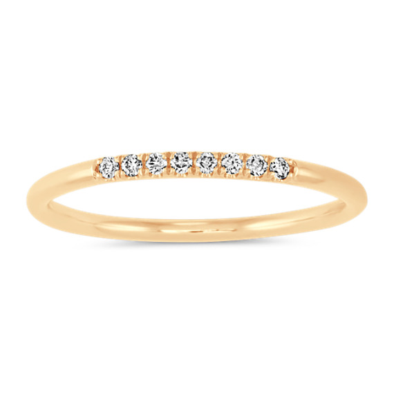 Diamond Stackable Ring in 14k Yellow Gold