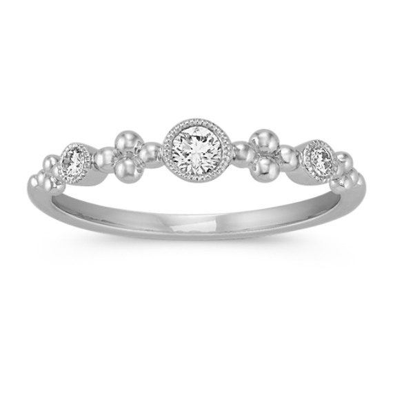 Diamond Stackable Ring with Bezel Setting
