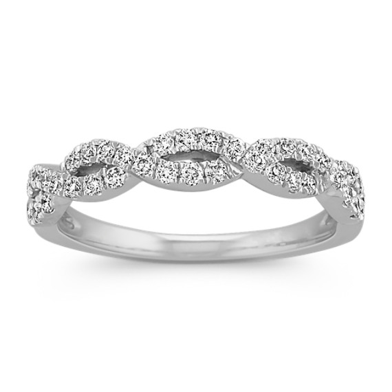 Diamond Twisted Infinity Wedding Band