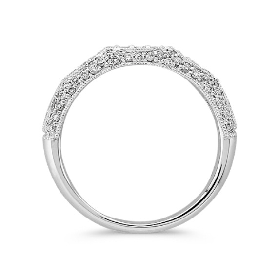 Diamond Vintage Wedding Band image