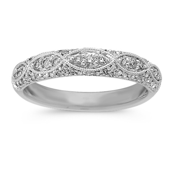 Vintage Wedding Ring   Diamond Vintage Wedding Band Shane Co