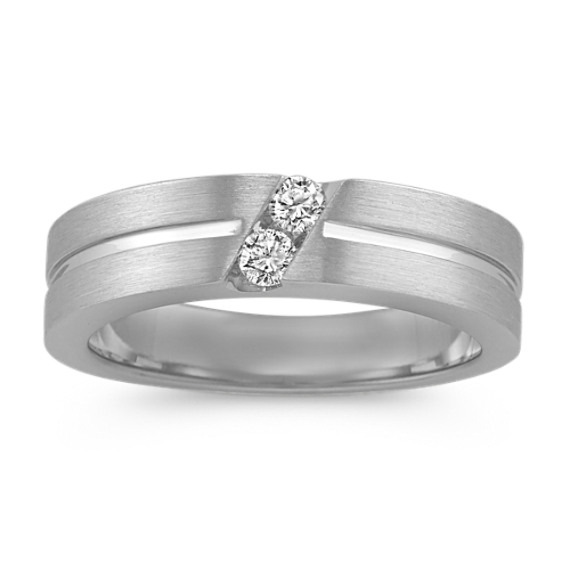 Diamond Wedding Band with Channel Setting (6mm)