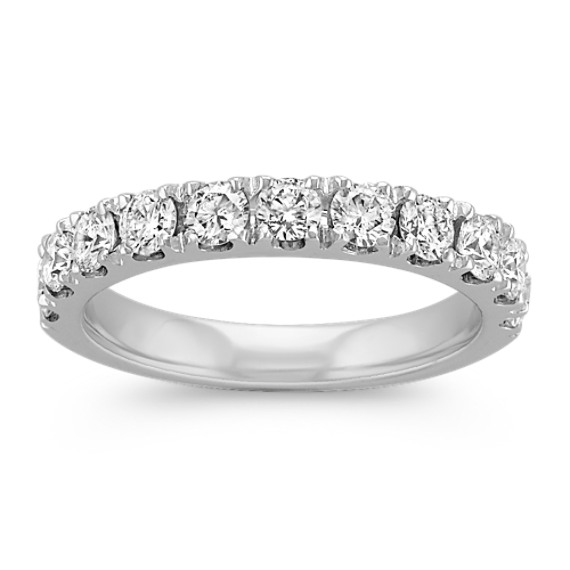 Diamond Wedding Band with Pave-Setting