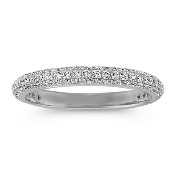 Diamond Wedding Band with Pave Setting