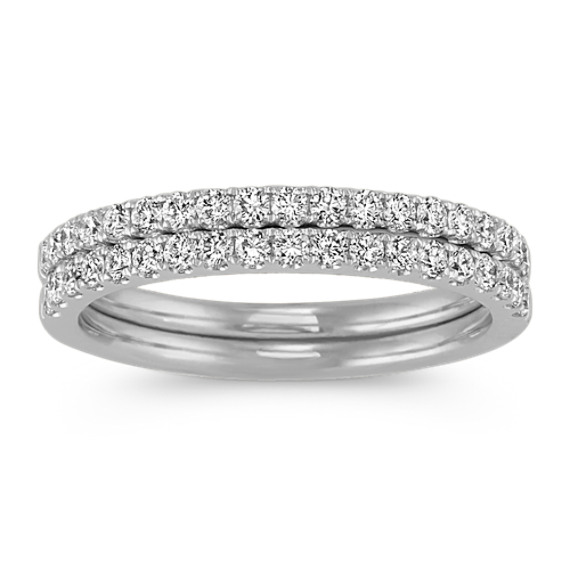 Diamond Wedding Bands in 14k White Gold