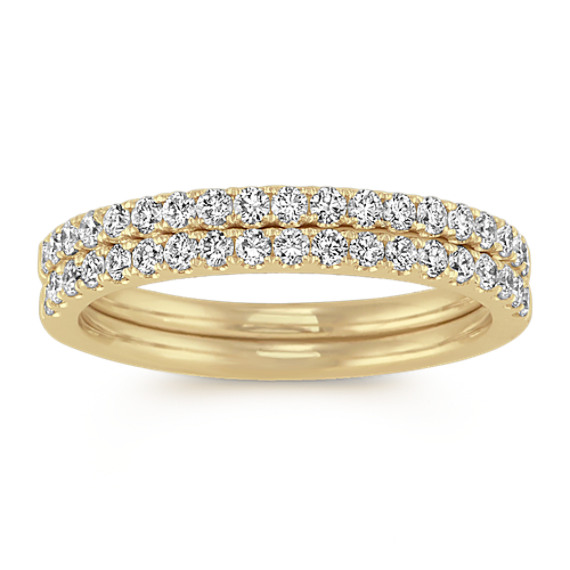 Diamond Wedding Bands in 14k Yellow Gold