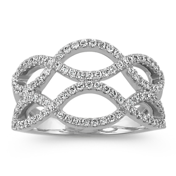 Double Row Infinity Round Diamond Ring
