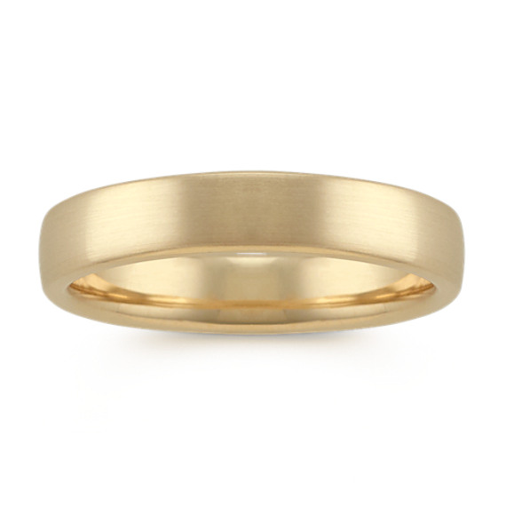 Euro Comfort Fit Mens Ring in 14k Yellow Gold (4.5mm)