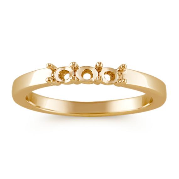 Trillion and Round Diamond Three-Stone Ring