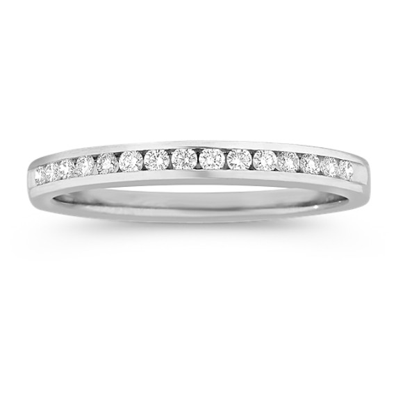 Fifteen Stone Round Diamond Wedding Band