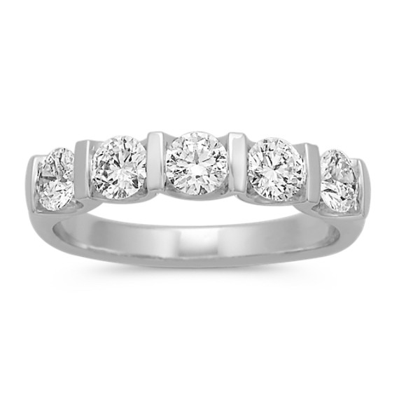 Five Stone Classic Diamond Band with Channel Setting