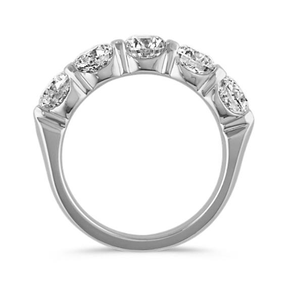 Five-Stone Diamond Ring in 14k White Gold image