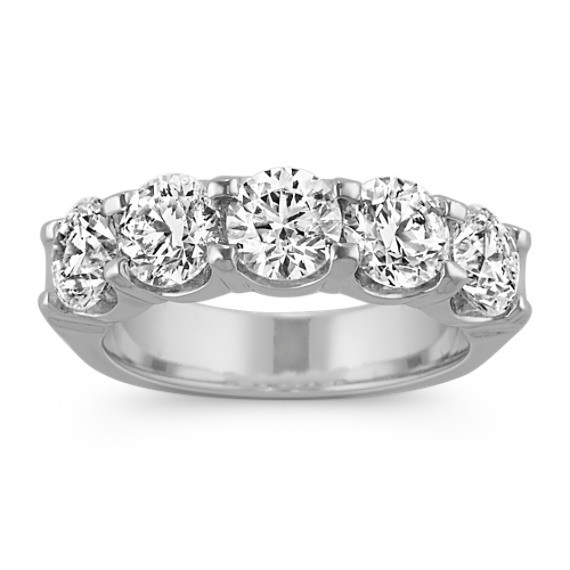 Five-Stone Diamond Ring in 14k White Gold
