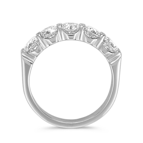 Five-Stone Diamond Wedding Band in Platinum image