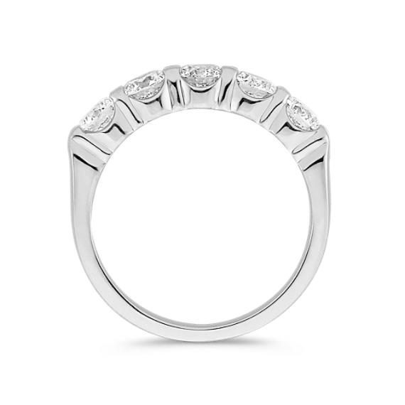 Five Stone Diamond Wedding Band image