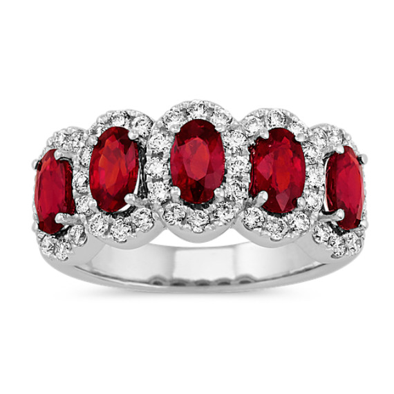 Five-Stone Ruby & Diamond Ring