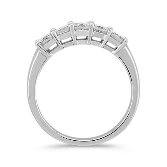 Five Stone Princess Cut Diamond Wedding Band image