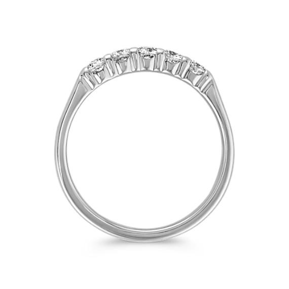 Five-Stone Round Diamond Wedding Band image