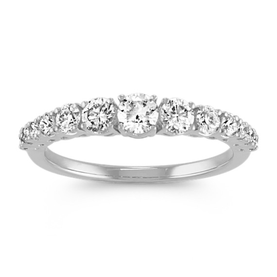 Graduating Diamond Ring in 14k White Gold