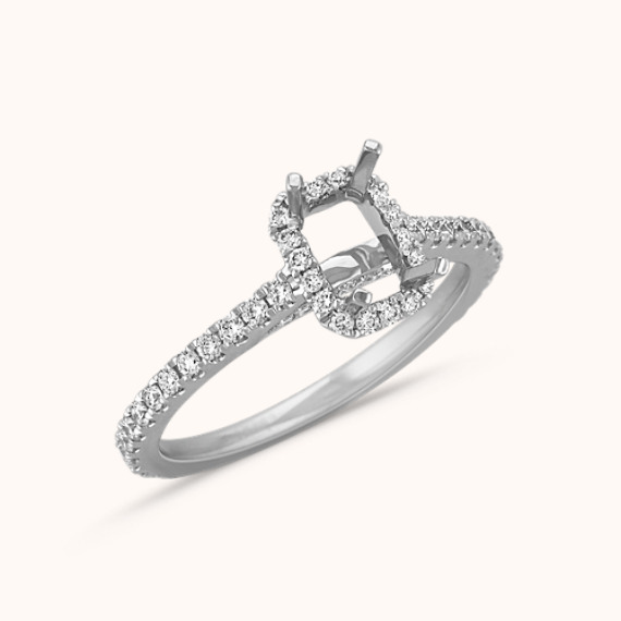0295d586eee85e Halo Diamond Engagement Ring for 1.00 Carat Emerald Cut | Shane Co.