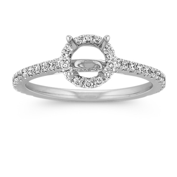 Halo Diamond Engagement Ring for 0.50 Carat Round