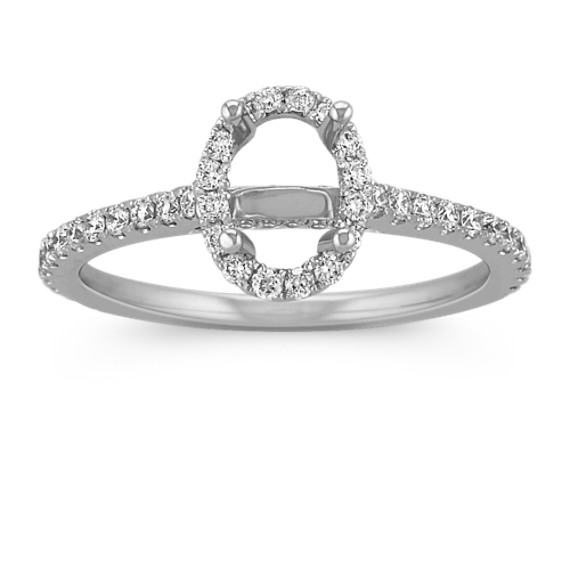Halo Diamond Engagement Ring for 0.75 Carat Oval