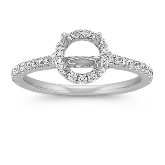 Halo Diamond Engagement Ring for 0.75 Carat Round