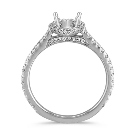 Halo Diamond Engagement Ring for 1.00 Carat Pear Shaped image