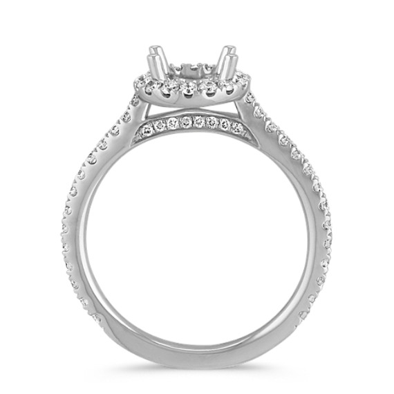 Halo Diamond Engagement Ring for 1.00 Carat Round image