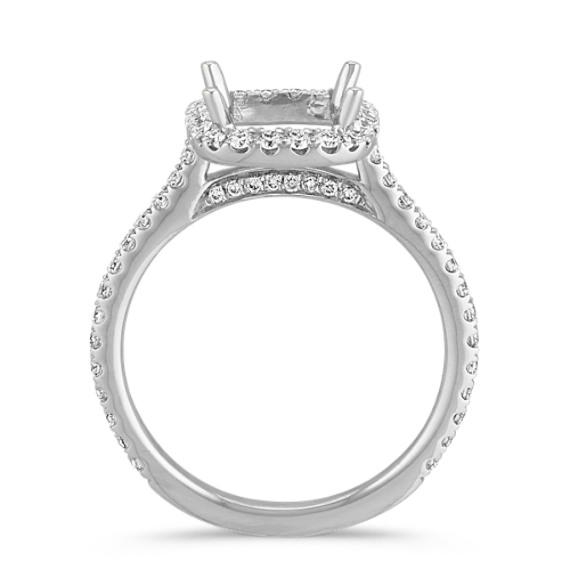Halo Diamond Engagement Ring for 2.00 Carat Cushion Cut image