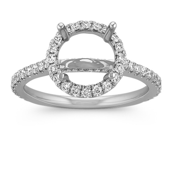 Halo Diamond Engagement Ring for 2.00 Carat Round