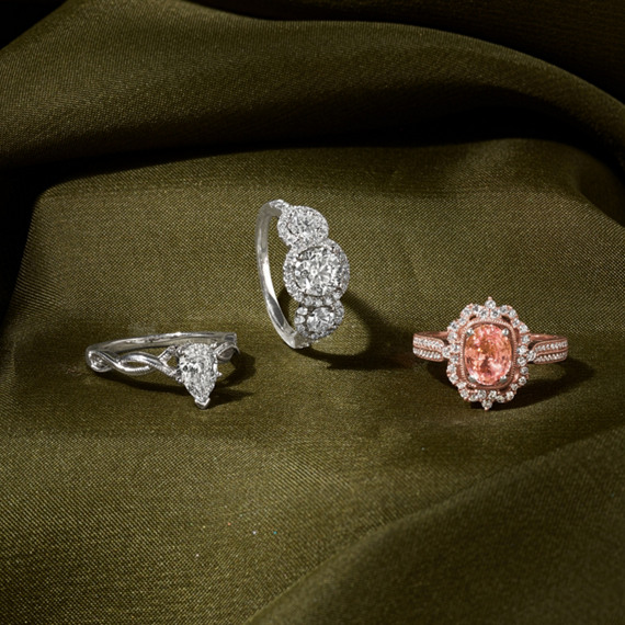 Halo Diamond Vintage Engagement Ring in Rose Gold image