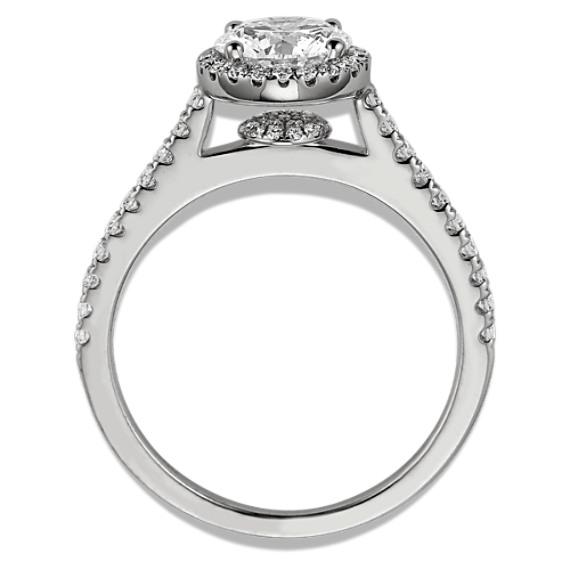 Halo Round Diamond Engagement Ring image